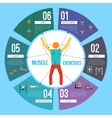 Workout training infographics vector image vector image