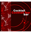 Template of a cocktail bar vector image