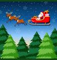 a santa riding sleigh vector image