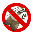 anti moth sign vector image vector image