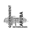 aruba government text background word cloud vector image vector image