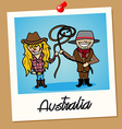 Australia travel polaroid people vector image vector image