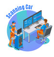 auto scanning background vector image vector image