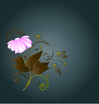 Background composition with a flower3 vector image vector image