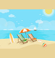 beach scene welcome to holiday vector image