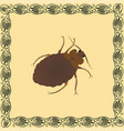 bed bug color in greek palmetta ornam vector image vector image
