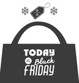 Black Friday design vector image