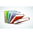Book 3d isolated on white vector image vector image