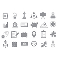 Business gray strategy icons set vector image