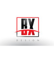 bx b x logo letters with red and black colors and vector image vector image