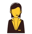 call center agent character vector image vector image