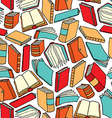 Cartoon texture of different books vector image