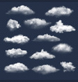 clouds realistic nature sky weather symbols rain vector image vector image