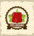 Colorful logo of organic food with peppers