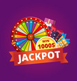 colorful promotional lottery banner vector image vector image
