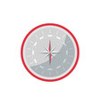 compass rose icon in flat style vector image vector image