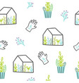 cute plants pattern vector image vector image