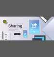 data share online internet sharing network top vector image vector image
