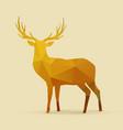 deer polygon golden silhouette vector image