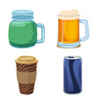 design of drink and bar icon set of drink vector image vector image