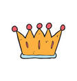 digitally drawn crown design hand drawing style vector image