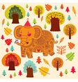 Elephant birthday greeting design vector image