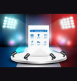 empty stage studio on soccer field with france vector image vector image