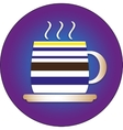 Flat icon for cafes with a cap and a plate vector image vector image