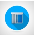 Flat icon for window with vertical louvers vector image vector image