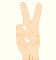gesture two fingers vector image vector image