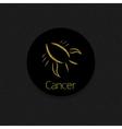 Golden Cancer sign vector image
