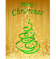 green christmas card vector illustration vector image vector image