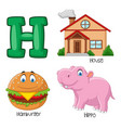 h alphabet vector image vector image