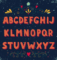 Hand drawn doodle alphabet vector image vector image