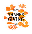 hand drawn thanksgiving vintage card vector image