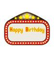 happy birthday theatre marquee vector image vector image