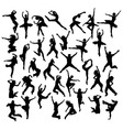 Happy Dancer Silhouettes vector image vector image