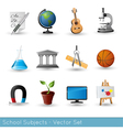 Icon Set Subjects VS vector image vector image