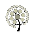 Infographic tree for your design vector image
