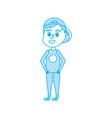 isolated boy cartoon design vector image