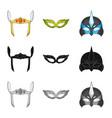isolated object of hero and mask icon set of hero vector image