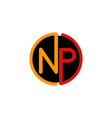 letter np circle business creative logo design vector image vector image
