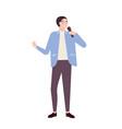 man singer jazz soul or blues vocalist wearing vector image vector image