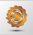 metallic gear icon for web design vector image