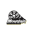 mountain and bicycle logo design vector image vector image