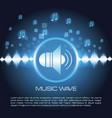 music wave infographic vector image