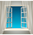 Opening window with sky and stars vector | Price: 1 Credit (USD $1)
