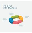 pie chart infographics elements 3d design vector image vector image