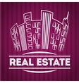 Real estate edifices and residential towers vector image vector image