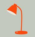 red lamp desktop vector image